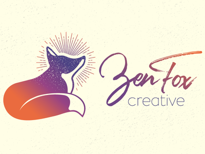 Zen Fox Creative web design orange purple logotype logo fox zen