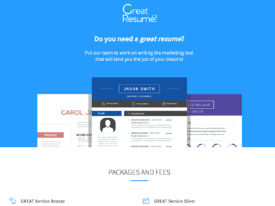 Great Resume – Home Mockup