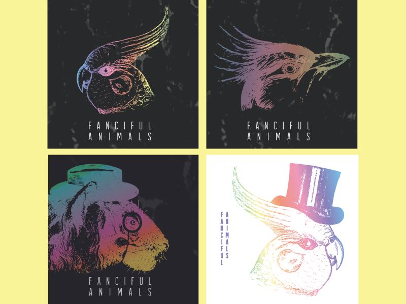 Fanciful Animals Album Covers band logo logo vinyl music album artwork album art album cover album animal animals