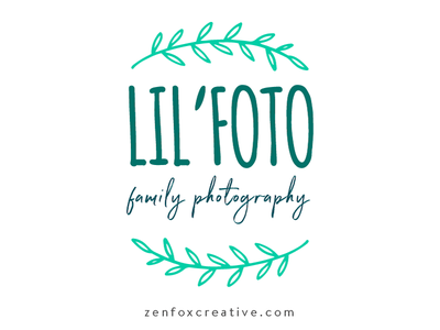 Lil' Foto logo design green mint photograhy photography logo logo