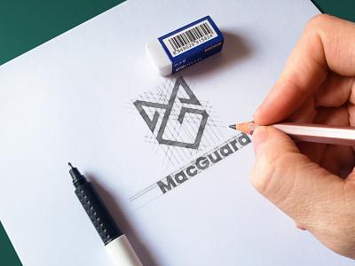 'MG' monogram LOGO internet security shield logo security logo mg mg logo mg monogram monogram logo modern logo professional logo logo graphic design brand identity minimalist logo logo design