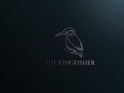 Kingfisher Bird Logo modern logo kingfisher logo kingfisher bird logo bird logo illustration design professional logo minimalist logo brand identity branding graphic design logo design logo