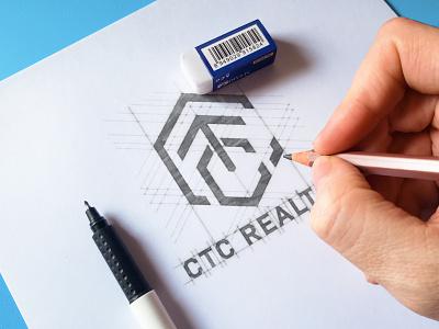 'CTC' Monogram Logo modern logo wordmark logo lettermark logo realtors logo ctc ctc logo monogram logo illustration design logo branding professional logo brand identity minimalist logo graphic design logo design