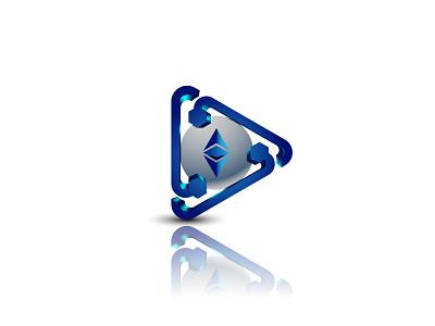 'Block chain + Play Button' 3D Logo concept icon logo icon app icon modern logo 3d illustration design branding professional logo brand identity minimalist logo graphic design play play logo blockchain logo logo logo design 3d logo