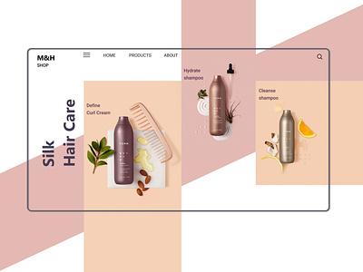 hair care products design landing page web design web design ui