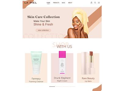 skincare products landing page ux web design website design webdesign design ui