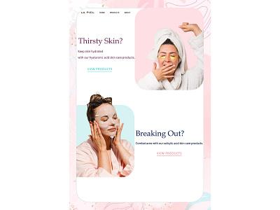 skincare blog web design landing page webdesign website design web design ux ui