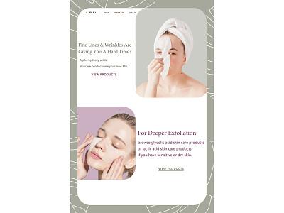 skincare blog minimal mobile app design mobile ui mobile design design web website design web design webdesign ux ui