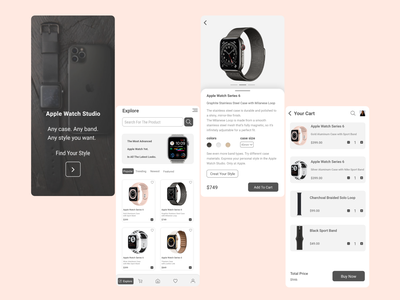apple watch store concept landing page logo animation motion graphics 3d web design graphic design branding mobile ui mobile design mobile app design design ui