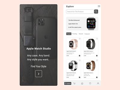 apple watch store concept graphic design branding logo landing page web design mobile ui mobile design mobile app design ui design