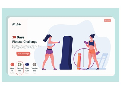 fitness landing page concept motion graphics graphic design 3d animation logo branding illustration landing page web design mobile ui mobile design mobile app design ui design