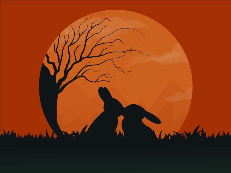 Rabbits               1 adobe illustrator illustrator vector illustration