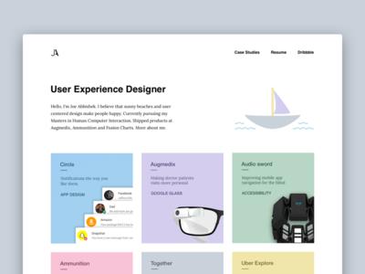 Portfolio thumbnails portfolio ux ui webdesign