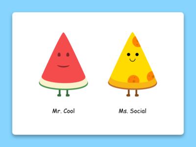 Food emoji's emtpy states icons smileys watermelon pizza ui emojis