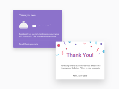 Feed - Thank you cards relationship card feed thankyou ui ux