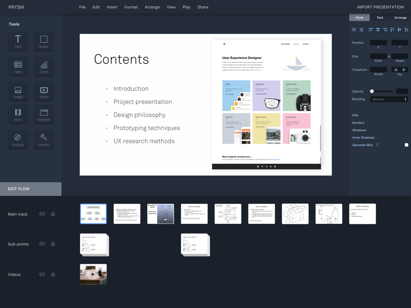 presentation maker Slidedog is a powerful presentation tool that seamlessly switches between multimedia presentation files and makes it easy to present like a professional.