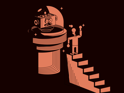 Surveillance scene affinitydesigner designer vectorart illustration vector