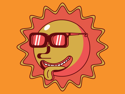 Sun illustrator vectorart illustration vector affinity designer