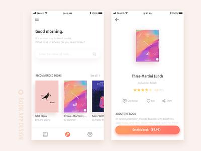Reading app app ui sketch color reading book