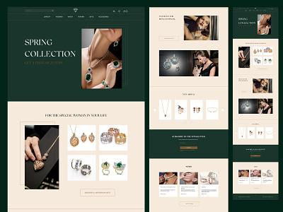 Website design for jewelry store landing uidesign uiux ui designer design web website design webdesign