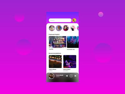 Mobile Music App gradient music player xd masterclass ui adobe xd music app music