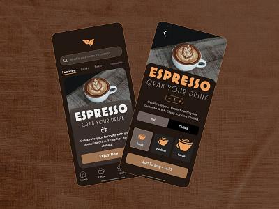 Cafe Coffee App xd masterclass app design app coffee cafe ui adobe xd