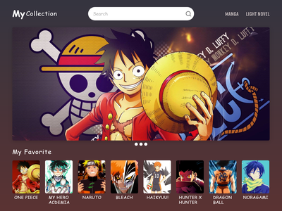 Landing Page novels web design collection design website gradient manga anime landing page ui adobe xd