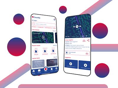 EdTech Mobile App UI 3d app ui study app app design gradient ui adobe xd