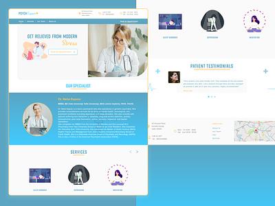 Mental Expert UI Design logo landing page design gradient ui adobe xd