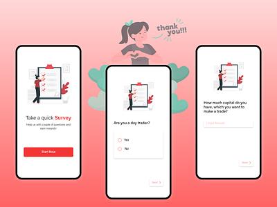 Survey UI - Mobile illustration button app ui app design app design ui adobe xd