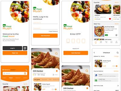 Food Delivery App - UI Design screen button delivery food app foodie app design app app ui design ui adobe xd
