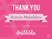Thank You Roman!