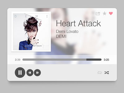 Music Player music demi lovato design rebound sarah mick flat photoshop typography