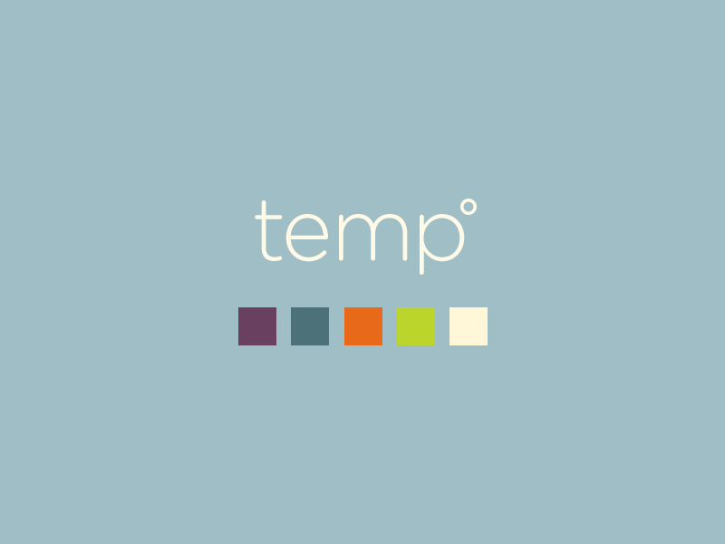 Skillshare Teaser: Temp skillshare temp ios design branding logo colors app application weather