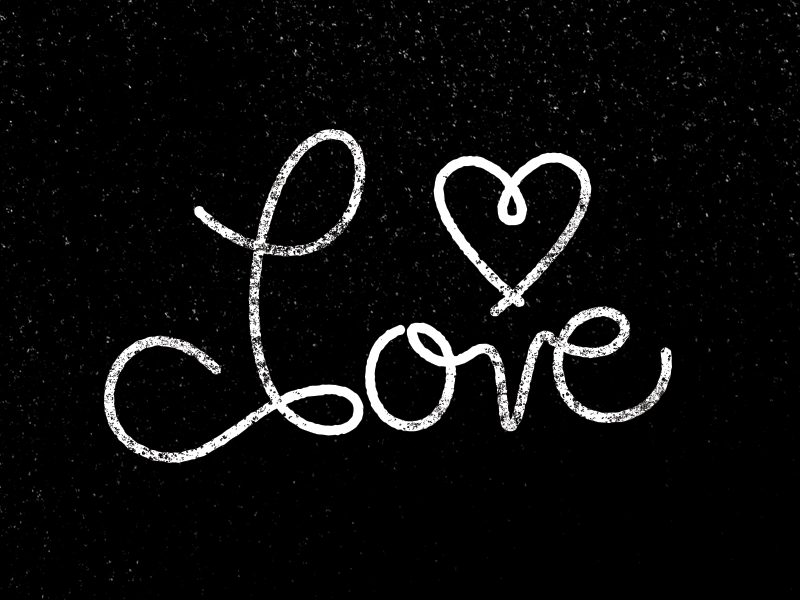 """Love"" Lettering lettering typography type black and white texture sarah mick"
