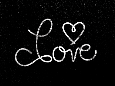 """""""Love"""" Lettering lettering typography type black and white texture sarah mick"""