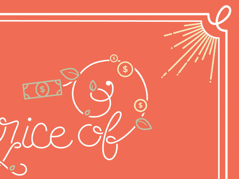 WIP: Lettering! lettering typography color illustrator orange money price