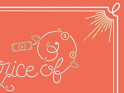 WIP: Lettering! lettering typography color illustrator orange money price