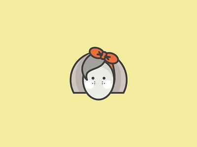 Girl icon sarah mick illustration illustrator design mono weight muted colors