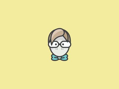 Guy icon sarah mick illustration illustrator design mono weight muted colors