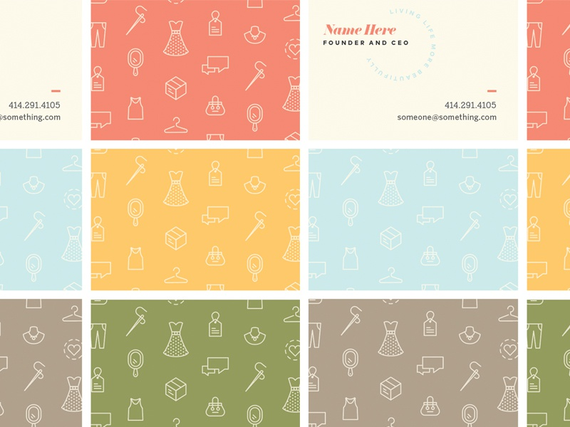 Doing Business illustration icons colorful brand design print branding cards business