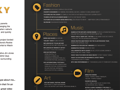 Tiny Preview of Big Print rca records music design info infographic sarah mick illustration layout print poster single color