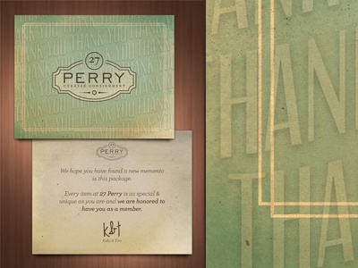 Postcards print design illustration sarah mick 27 perry card note vintage thank you