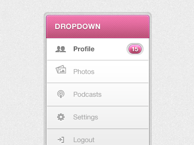 UI Dropdown ui design web mobile interface gui sarah mick designer