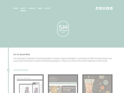 New Portfolio Preview (WIP) website design preview portfolio logo designer sarah mick mockup