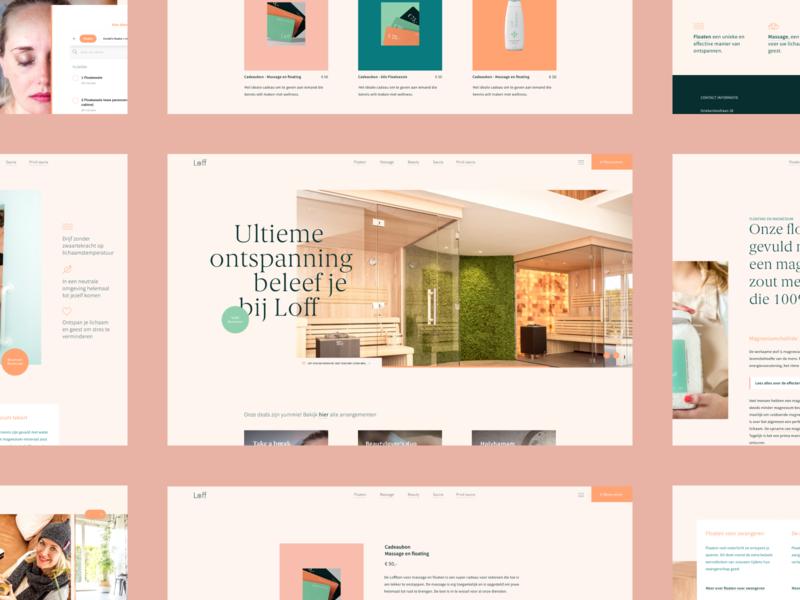 Loff Wellness typography webdesign ux design ui design luxury graphic design branding beauty