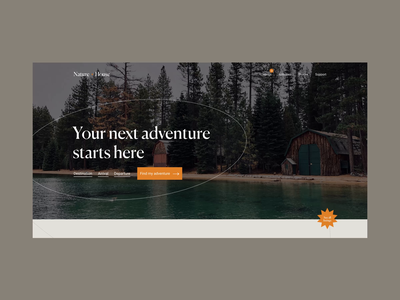 Outdoors website video animation interface ui design travel graphic design web page vacation outdoors nature earth ux ui