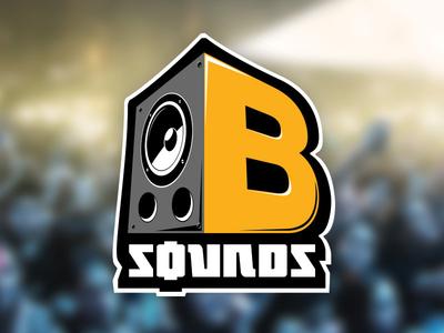 B-Sounds logo branding bsounds sounds advertising music hip hop rap events sticker