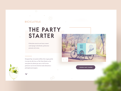 The Party Starter wip slider concept happy party simple design website ui