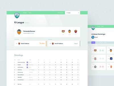 Fifa Tournament App xbox tournament dashboard website admin sports fifa interface clean design app ui